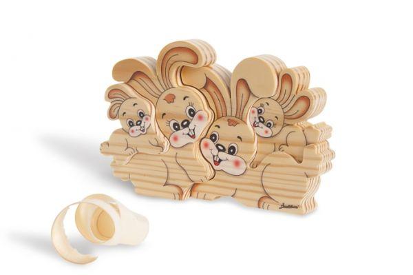 Holz-Steckspiel Kaninchen