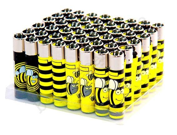 Feuerzeug Biene, versch. Motive, Display 48 Stück