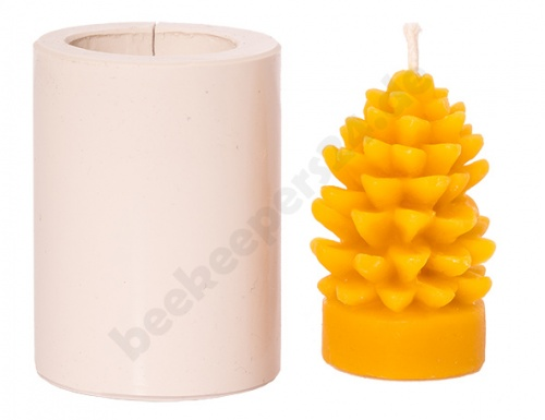 Kerzengießform,Silikon,Biene+Wabe,Imker,Imkerei,Bienenwachs,Paraffin,Gießform